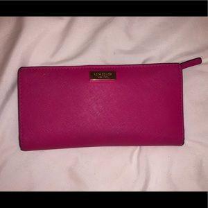 Kate Spade pink fold wallet